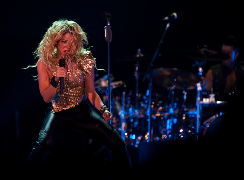 Shakira performing in Texas in 2010
