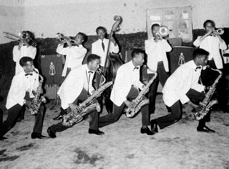 An Ethio-jazz band in Addis Ababa in 1971