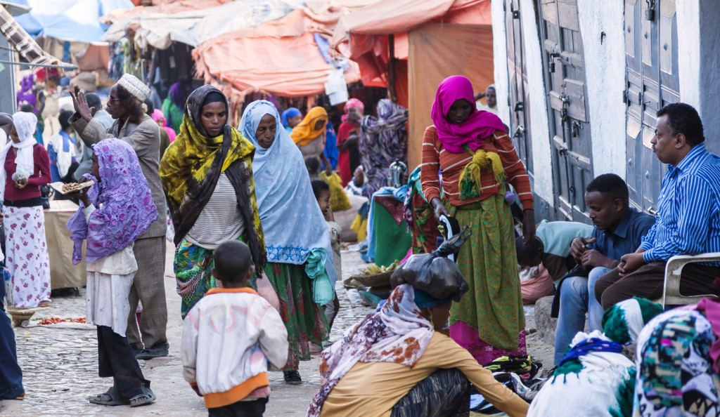 Muslims in the town of Harar, eastern Ethiopia