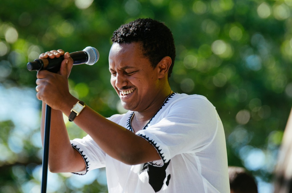 Teddy Afro performing live