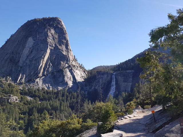 Hiking up to Nevada Fall in Yosemite National Park