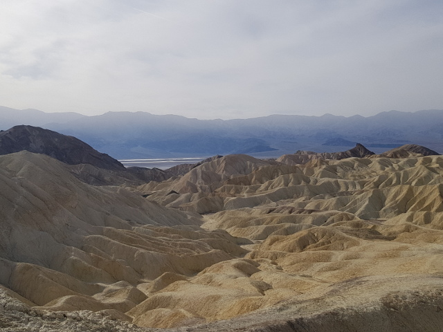 View from the top of Golden Canyon in Death Valley