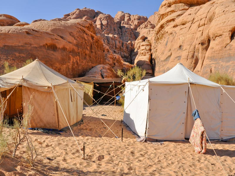 Tented camp in the desert