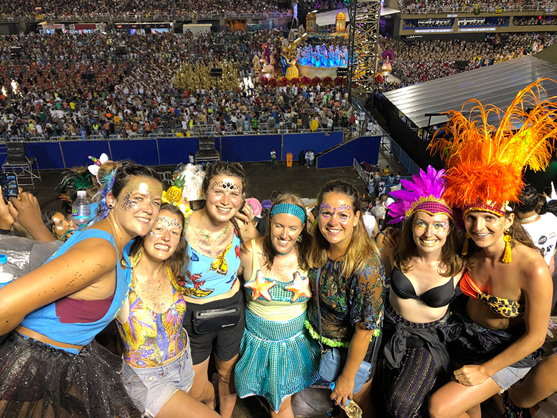 Rio carnival group picture