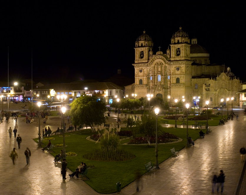 Night time in Cuzco