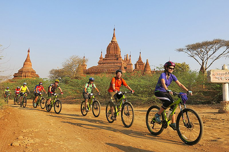 Cycling in Bagan