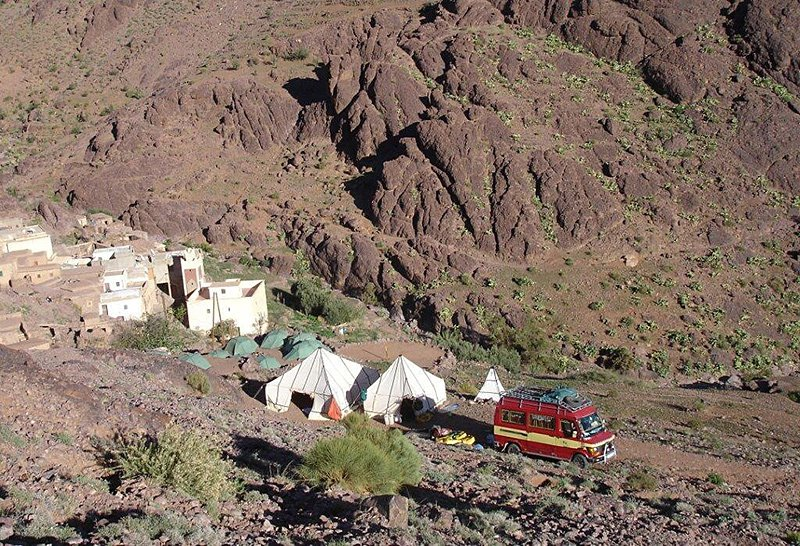 Wild camping in the Anti-Atlas Mountains