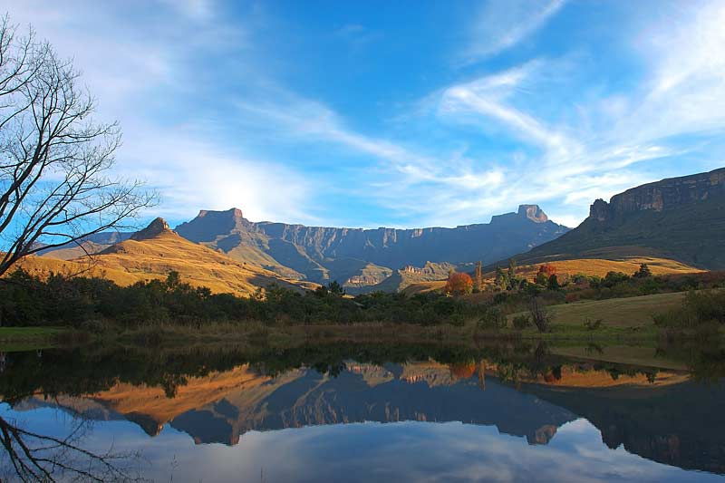 Mont Aux Source amphitheater in the Drakensberg Mountains, South Africa