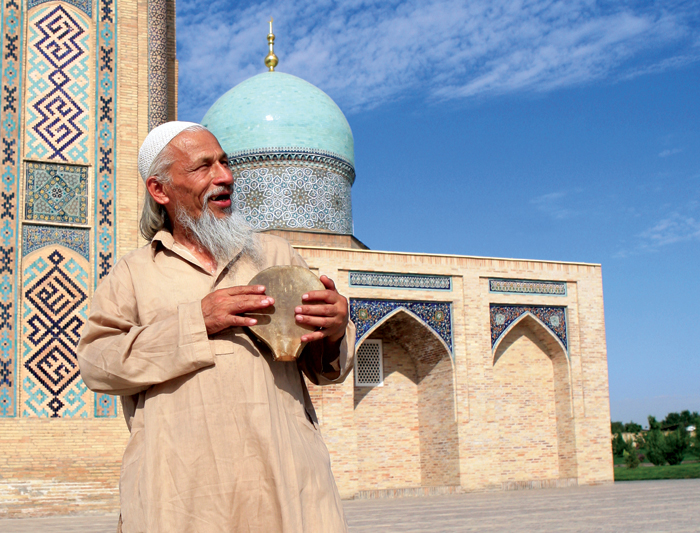 Colourful Mosque in Central Asia