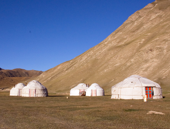 Yurts along the Silk Road