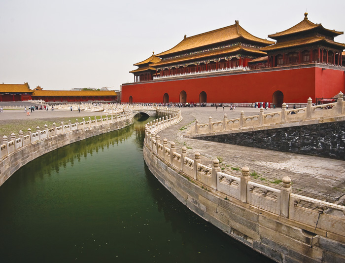The Forbidden City in central Beijing