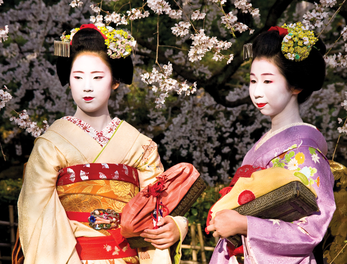 Geisha girls of Japan