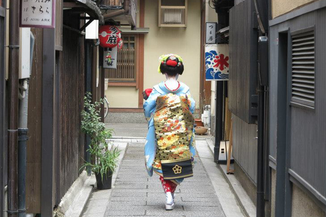 Geisha girl in Japan
