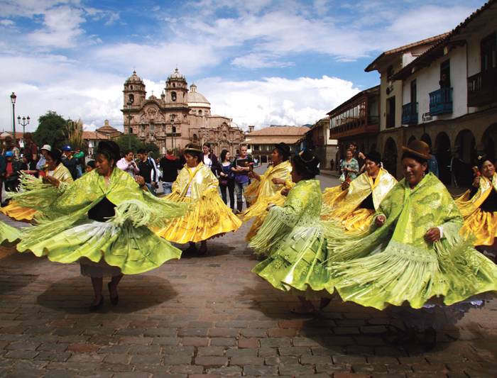 Tradition dancing in Peru