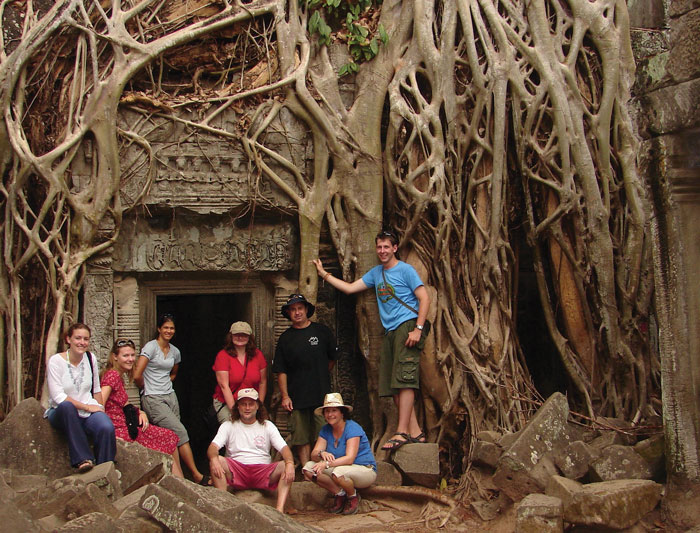 The ancient Ta Prohm temple in Angkor Wat
